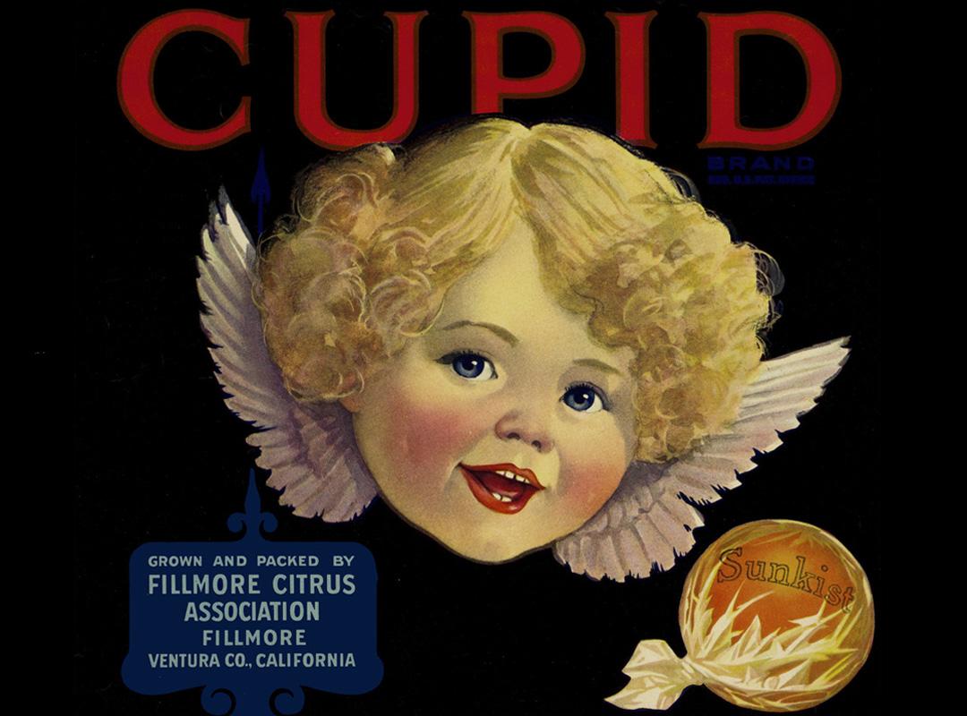 Maker Unknown (American), Crate label; Cupid, ca. 1925-45