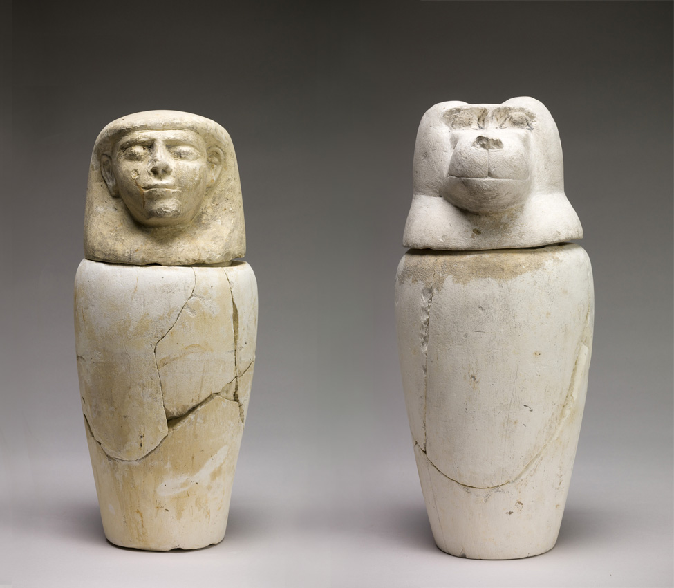 Maker Unknown (Egyptian), Canopic Jars, 1293-1070 BCE (New Kingdom, Dynasties 19-20)