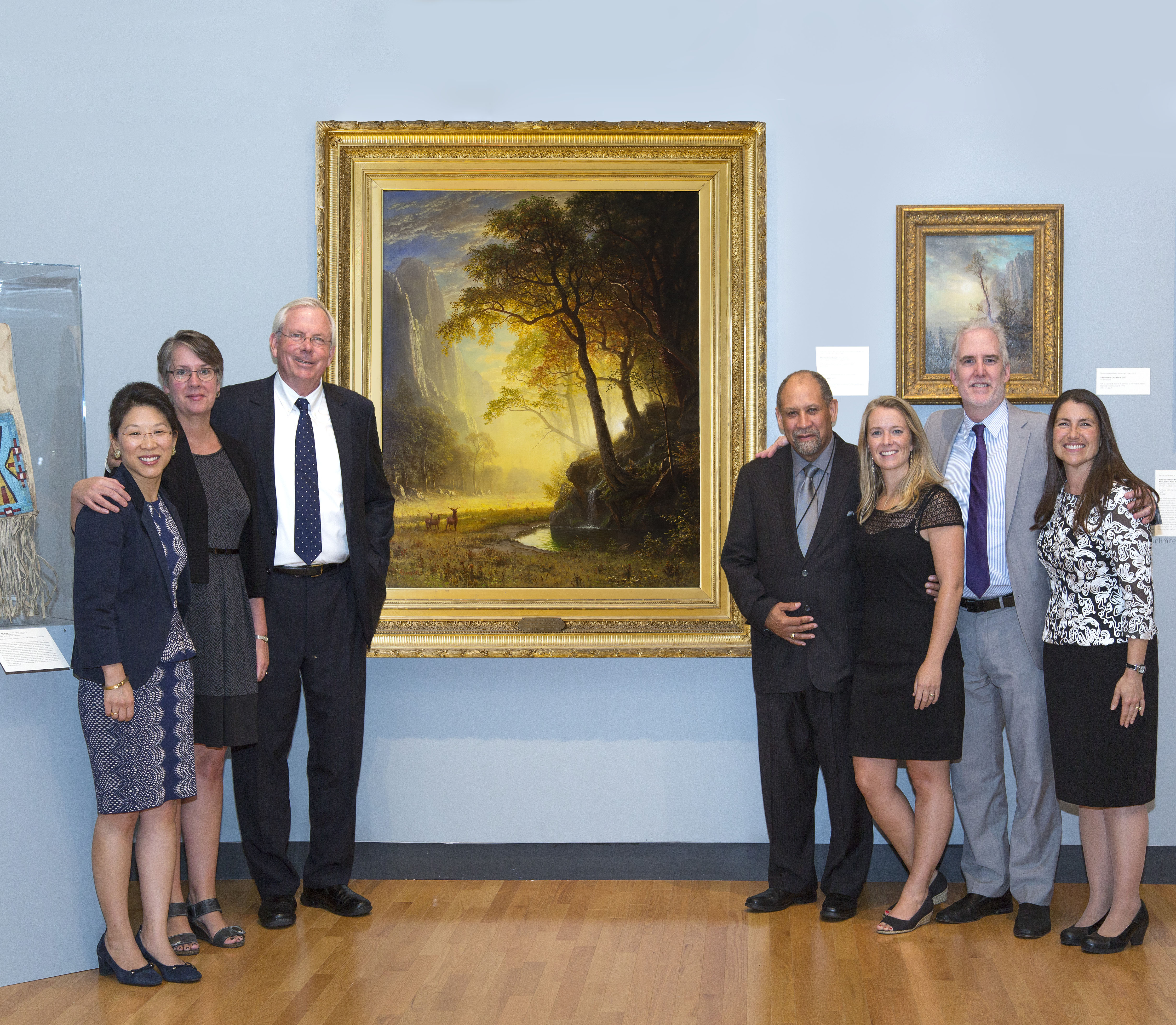Jock Reynolds, The Henry J. Heinz II Director of the Yale University Art Gallery (third from left) with Five College museum directors