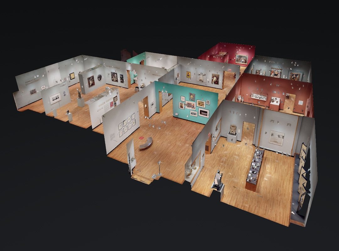 """Dollhouse"" view of ExhibitaPro 3D model"