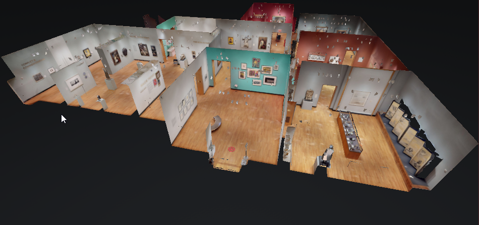 """Dollhouse"" view of Exhibita Pro 3D model"