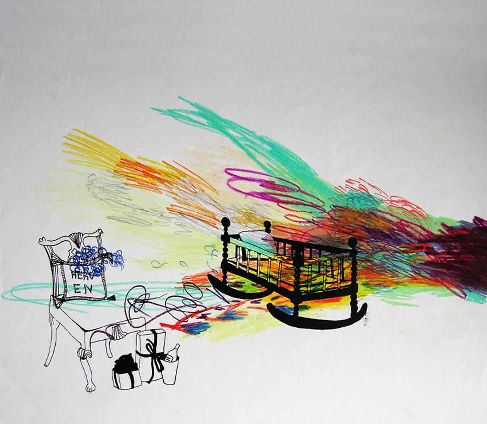 "Samuel Lopes, ""Untitled,"" 2009, Color Pencil and Screenprint"