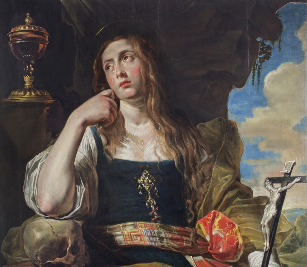 Abraham Janssens  (Flemish, ca. 1575-1632), The Penitent Magdalene (detail), ca. 1620