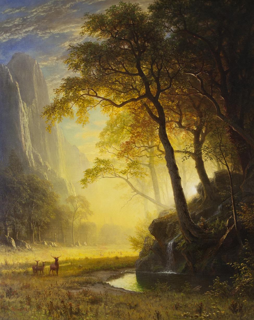 Albert Bierstadt (American, 1830-1902), Hetch Hetchy Canyon, 1875, oil on canvas