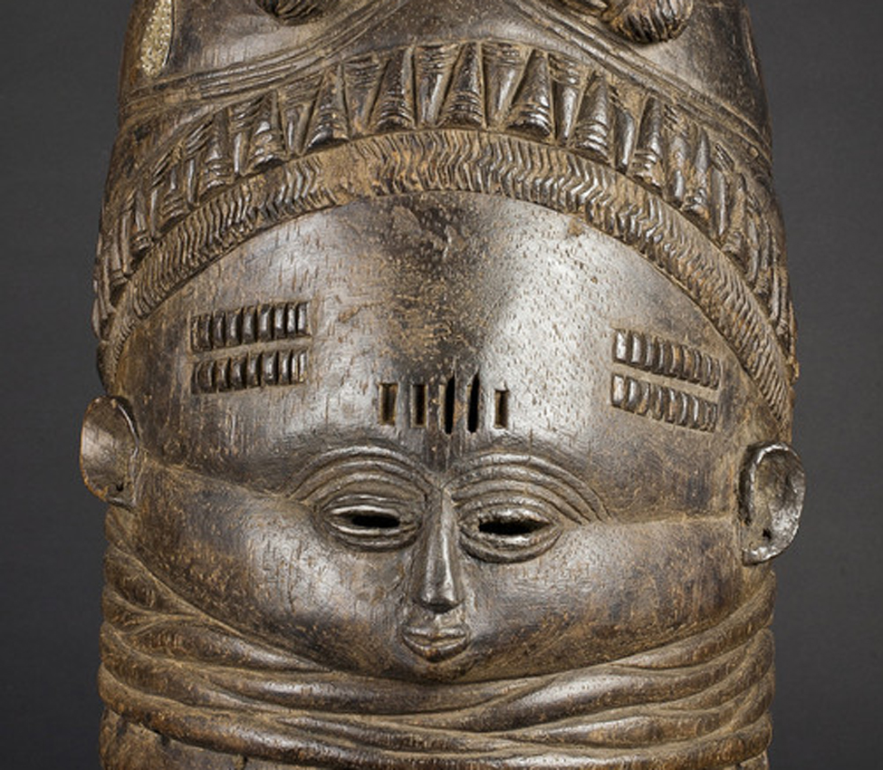Maker unknown (African; Mende), Sowo Wui dance mask (detail), early 20th century