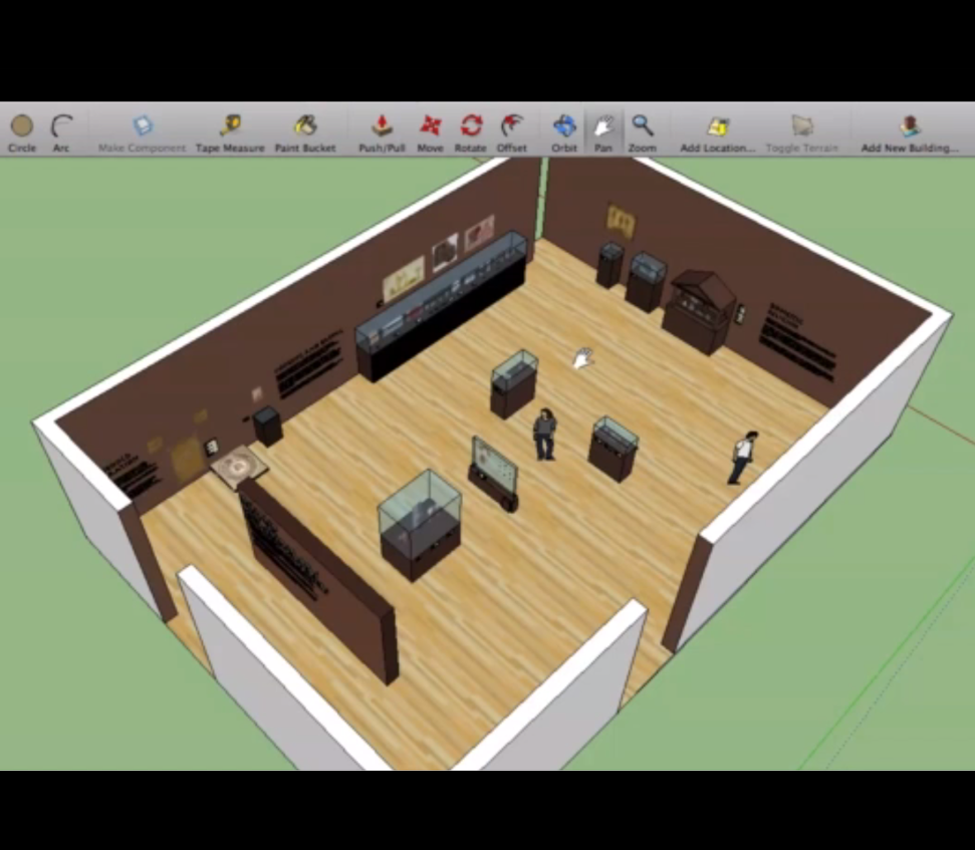 Screenshot of student Taylor Anderson's virtual exhibition