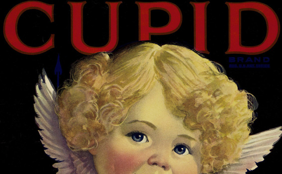 Artist Unknown (American), Crate label; Cupid, ca. 1925-45