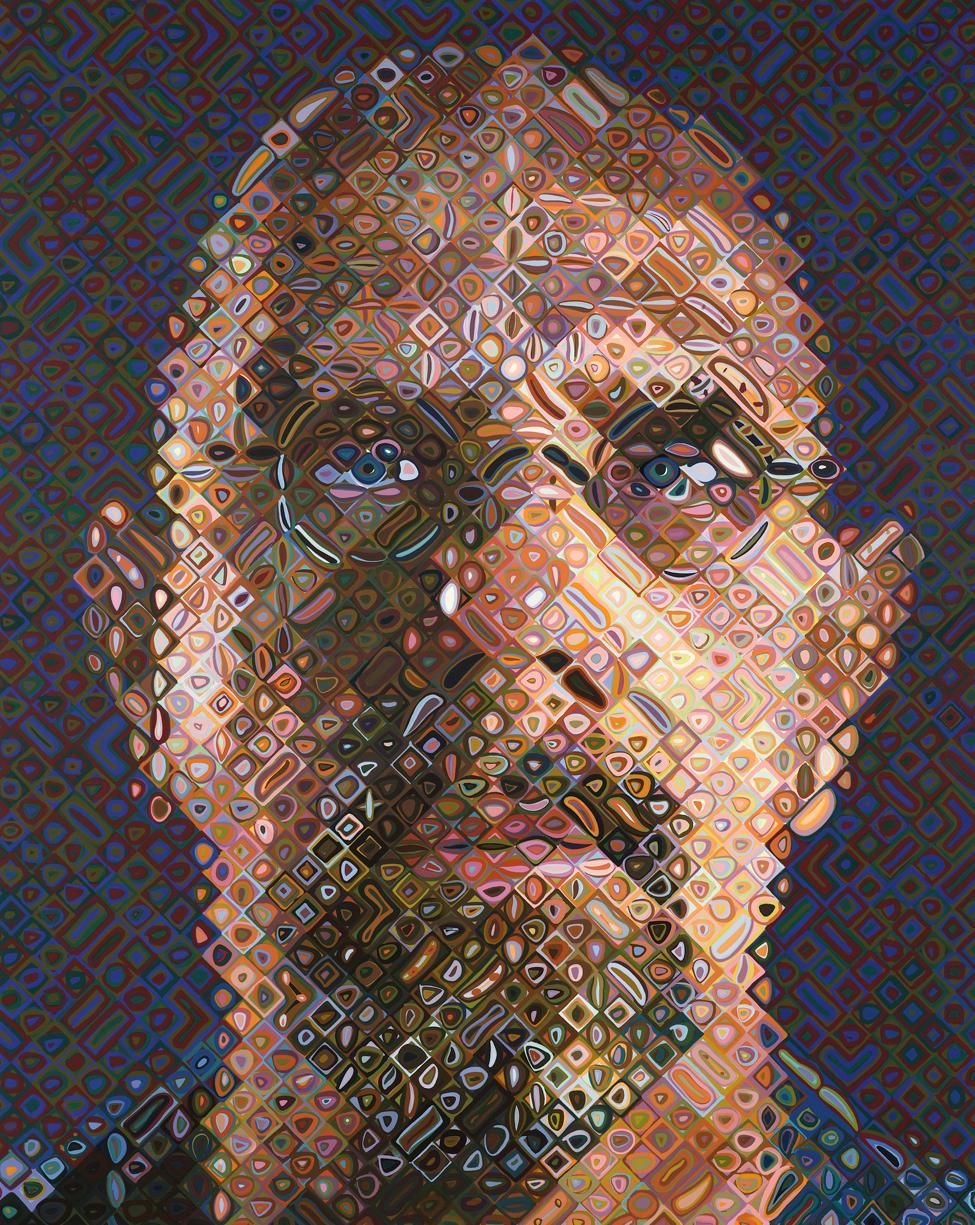 Chuck Close, Self-portrait screenprint