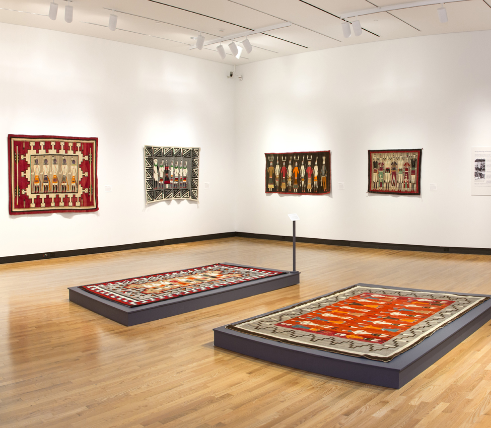 Dancers of the Nightway: Ceremonial Imagery in Navajo Weaving installation view