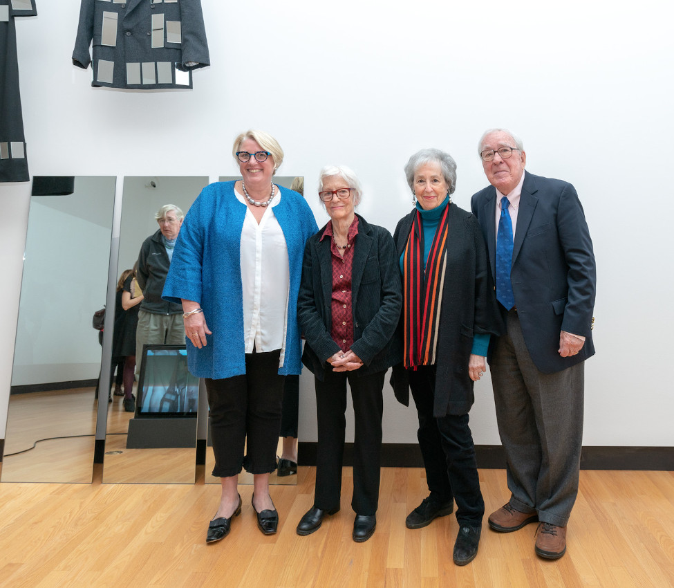 Sonya Stephens, Joan Jonas '58, Paul and Harriet Weissman '58