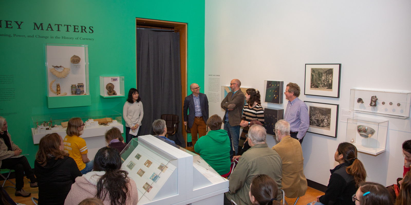 "Gallery talk about ""Money Matters"" with Desmond Fitz-Gibbon and Aaron Miller, Oct, 10, 2019"