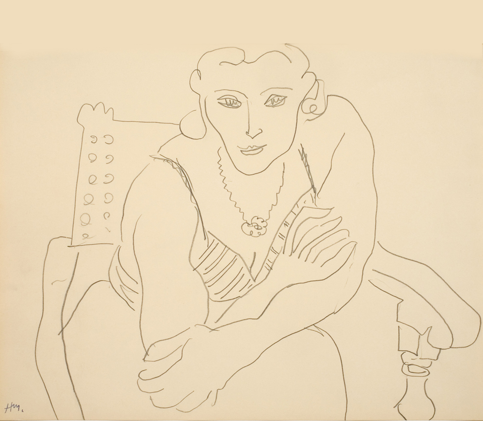 Henri Matisse (French, 1869-1954), Femme en fauteuil (Woman in chair), 1935, pencil on paper, collection of The Pierre and Tana Matisse Foundation, 346.203120
