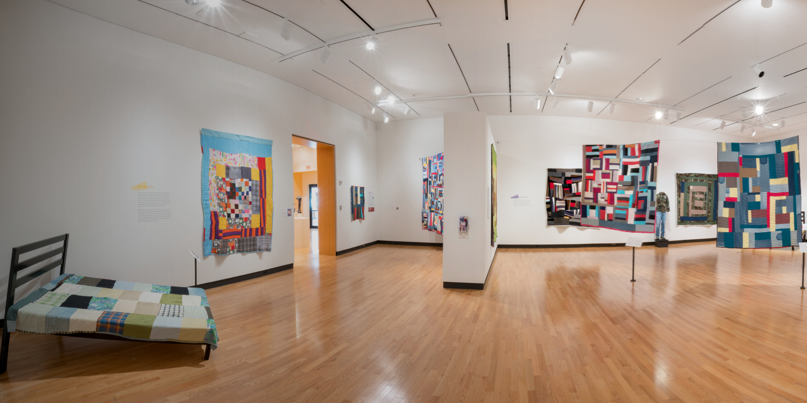 Pieced Together installation view, Mount Holyoke College Art Museum, January 2018