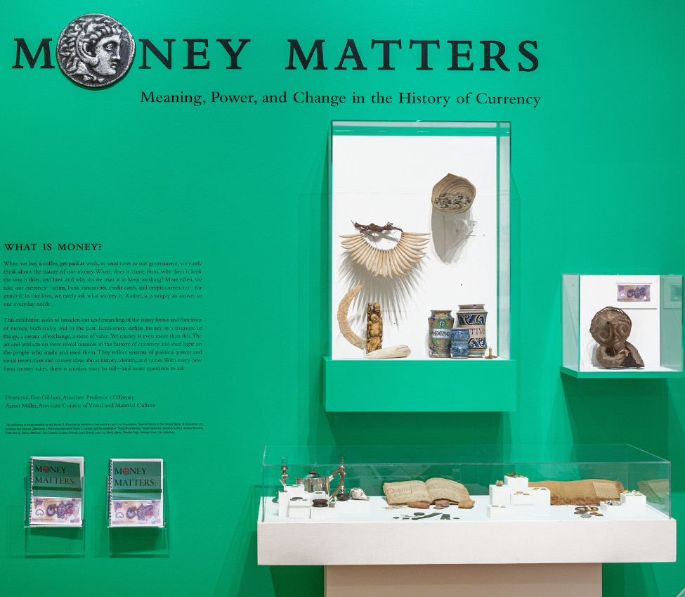Installation view of Money Matters, Fall 2019