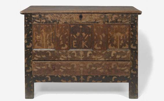 Maker Unknown (American; British), EK Hadley Chest, ca. 1700
