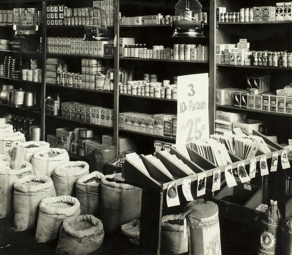Walker Evans (American, 1903-1975), Seed Store (detail), 1936