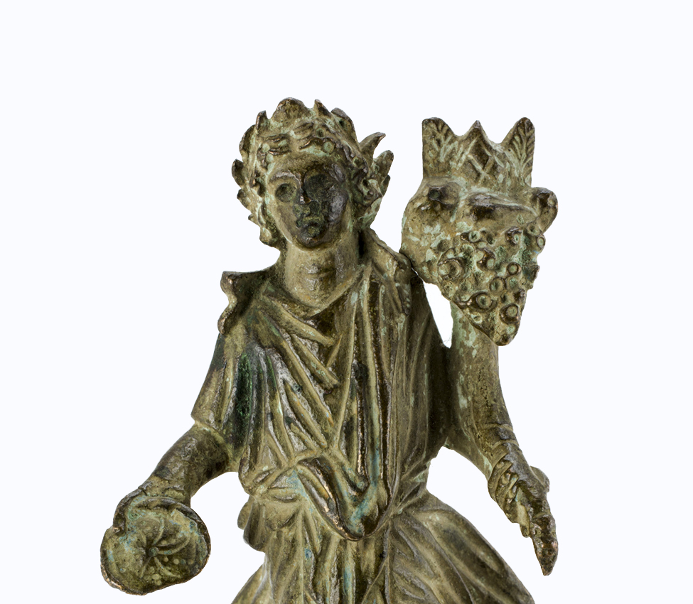 Maker unknown (Roman; Imperial), Lar holding a patera and cornucopia, 1st-2nd century CE