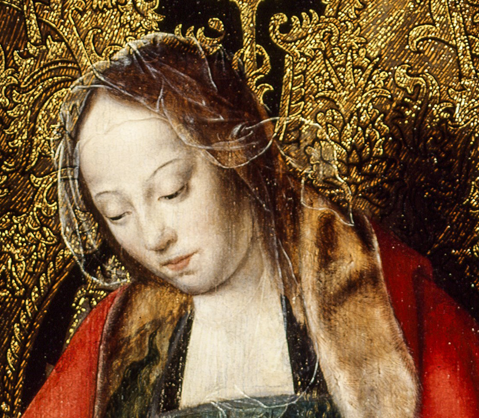 Workshop of Joos van Cleve (Flemish, 1485-1540), The Holy Family (detail), ca. 1520