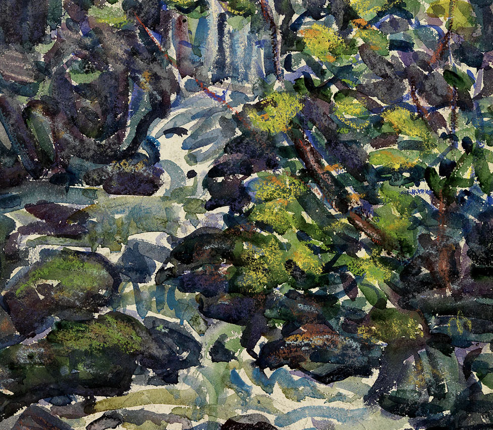 Maurice Prendergast (American, 1858-1924), The Waterfall (detail), 1920-23