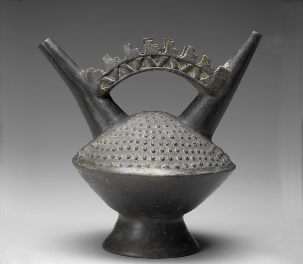 Maker Unknown (Lambayeque), Double spout and bridge vessel