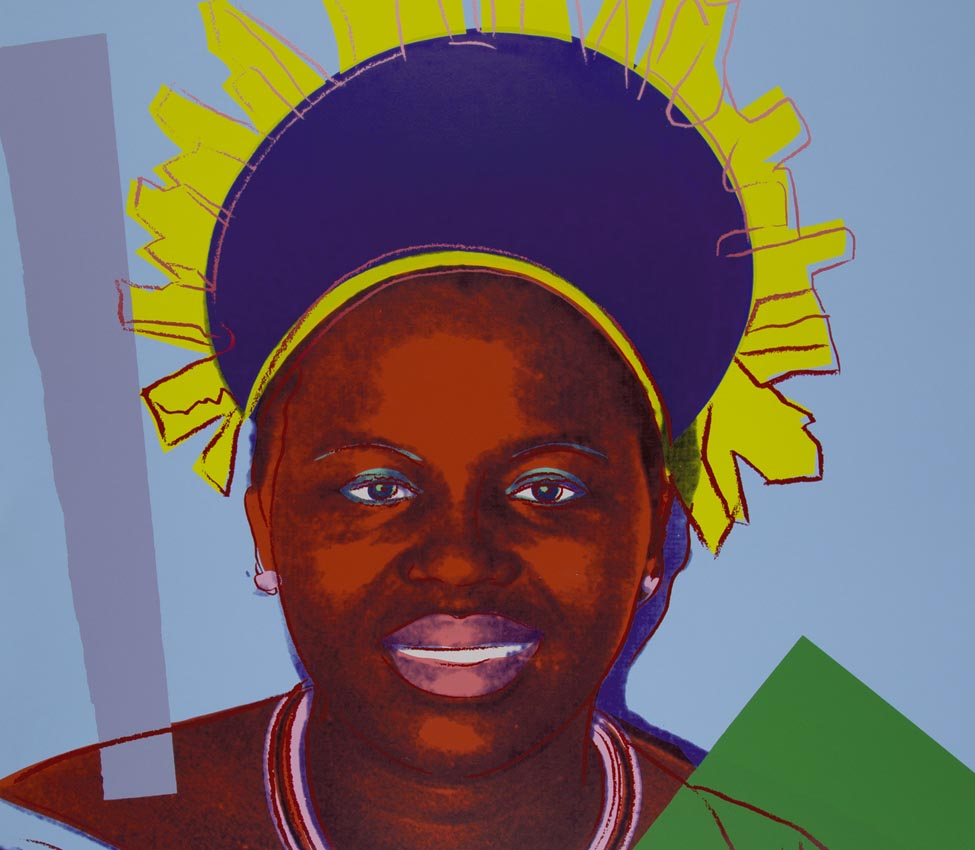 Andy Warhol (American, 1928-1987), Reigning Queens (Royal Edition) (Queen Ntombi) (detail), 1985