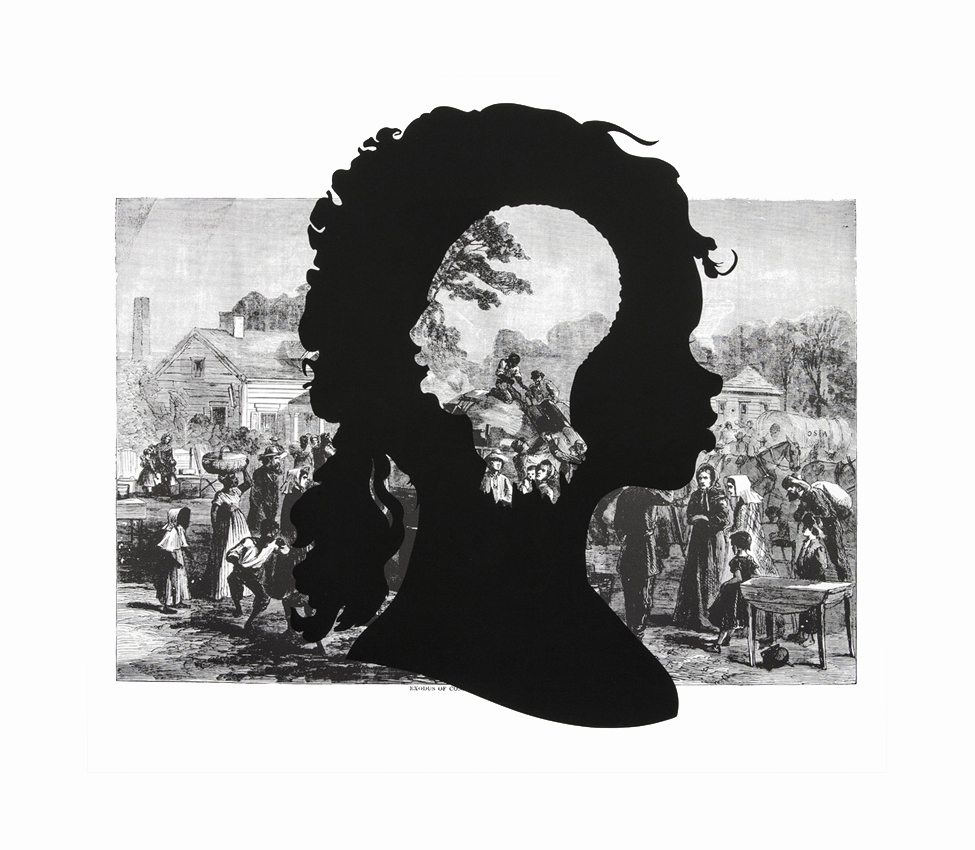 Kara Walker (American, b. 1969), Exodus of Confederates from Atlanta, from the series Harper's Pictorial History of the Civil War (Annotated), 2005