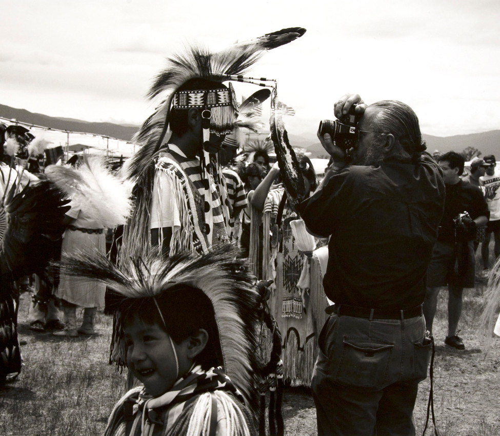 Zig Jackson (Mandan, Hidatsa, Arikara, American, b. 1957), Indian Photographing Tourist Photographing Indian, #1 of 4, Taos, New Mexico (detail), 1992 negative, 2018 print