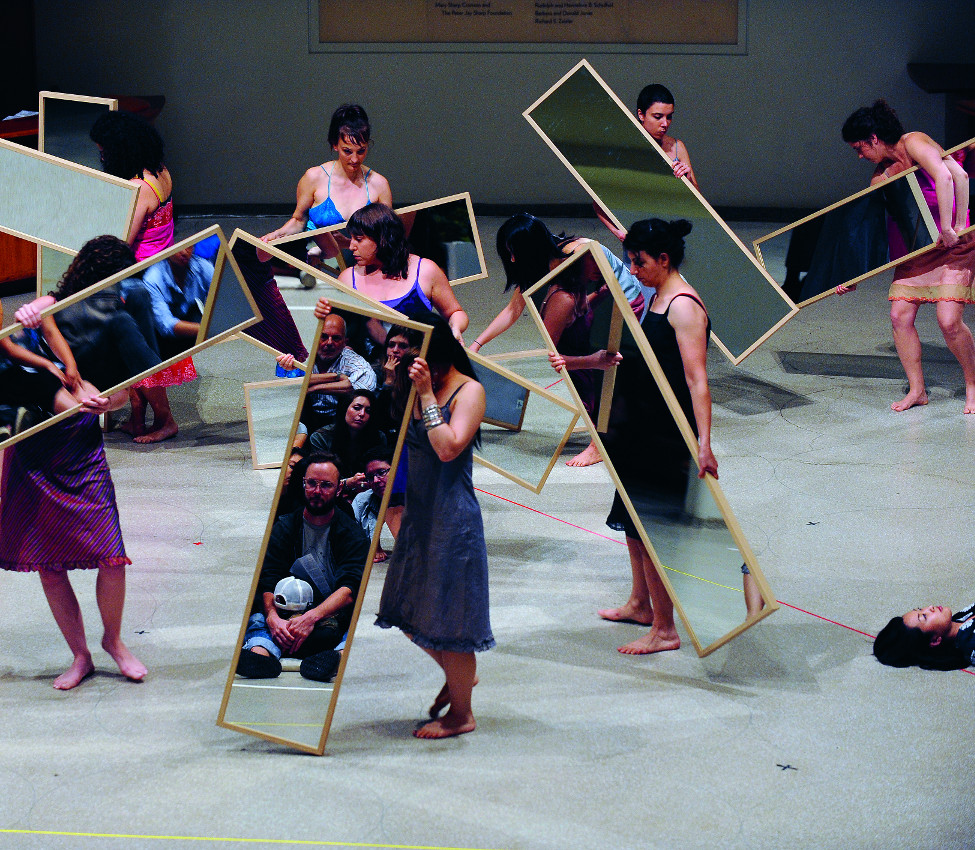 Performance view of Mirror Piece I (Reconfigured) (1969/2010), Solomon R. Guggenheim Museum, New York, 2010