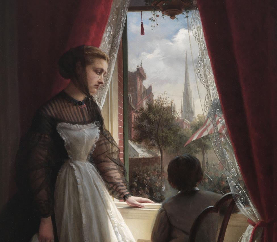 Oscar Kunath (German, 1830-1904), He Does Not Return (detail), 1867