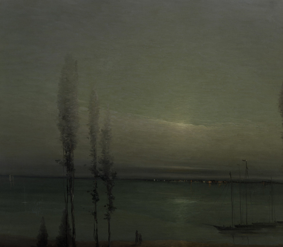 Leon Dabo (American, 1868-1960), Moonlight Waterscape (detail), ca. 1900-1910