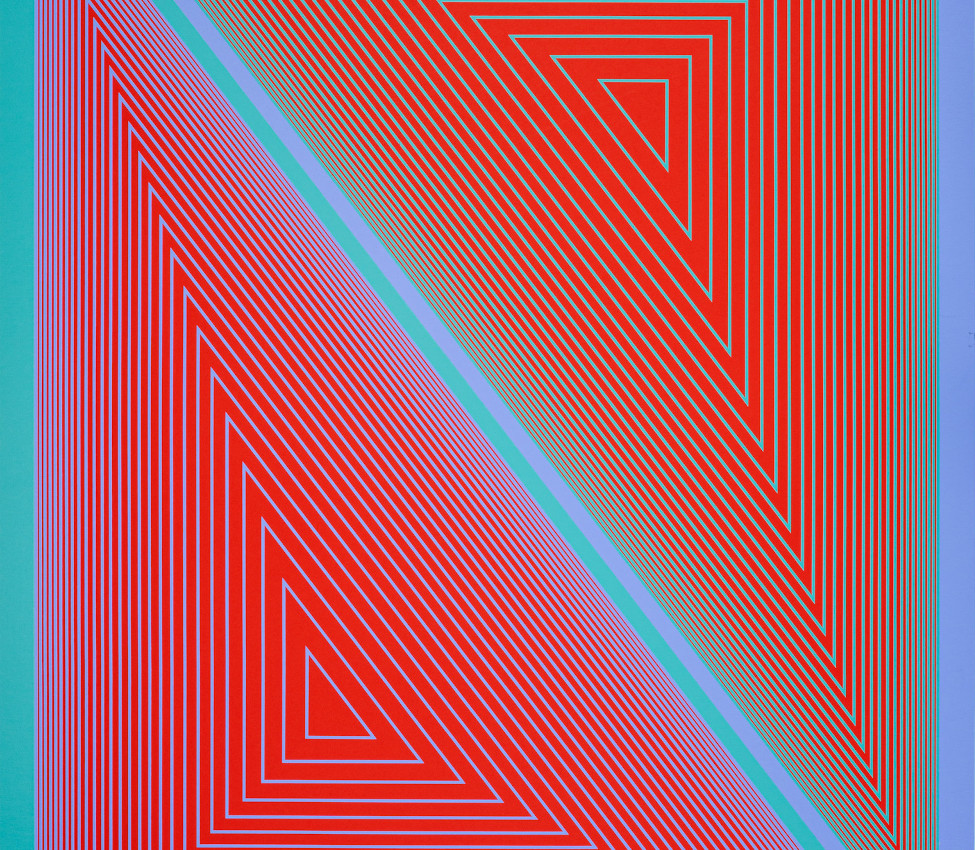 Richard Joseph Anuszkiewicz (American, b. 1930), The Inward Eye: #7 art (detail)
