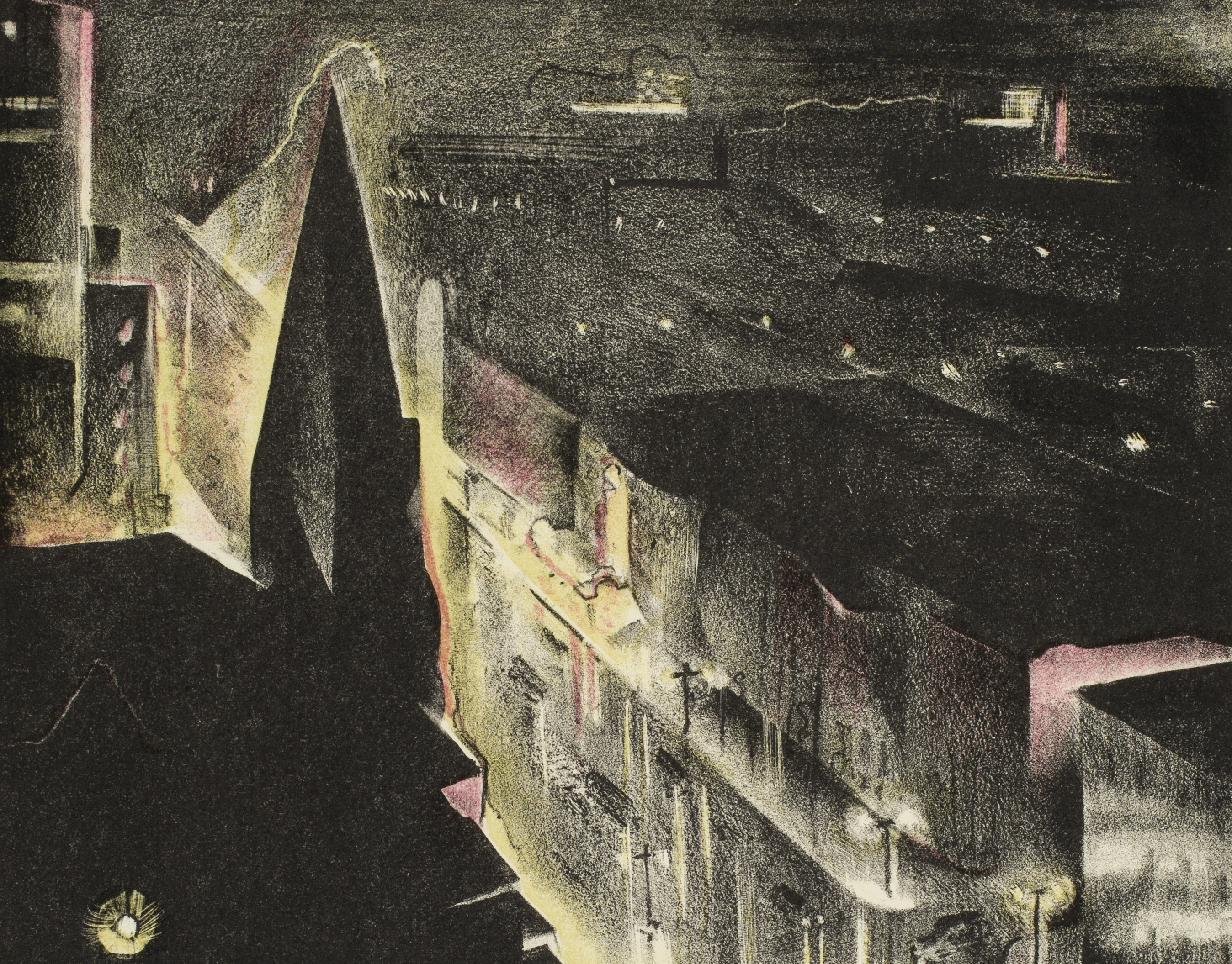 Benton Spruance (American, 1904-1967), City in the Rain (detail), 1932