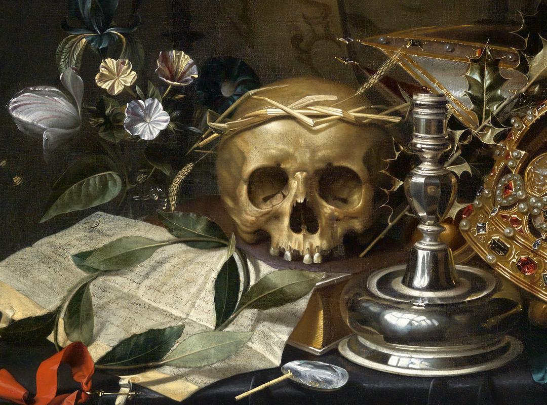 Hendrick Andriessen (Flemish, 1607-1655), Vanitas Still Life, ca. 1650 (detail)