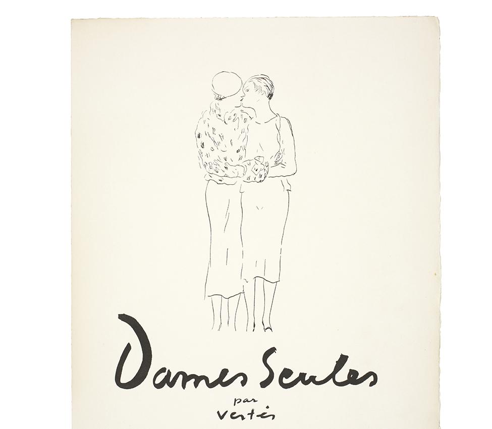 Marcel Vertès and Francis Carco, Dames Seules (Paris: Duchatel, 1932).