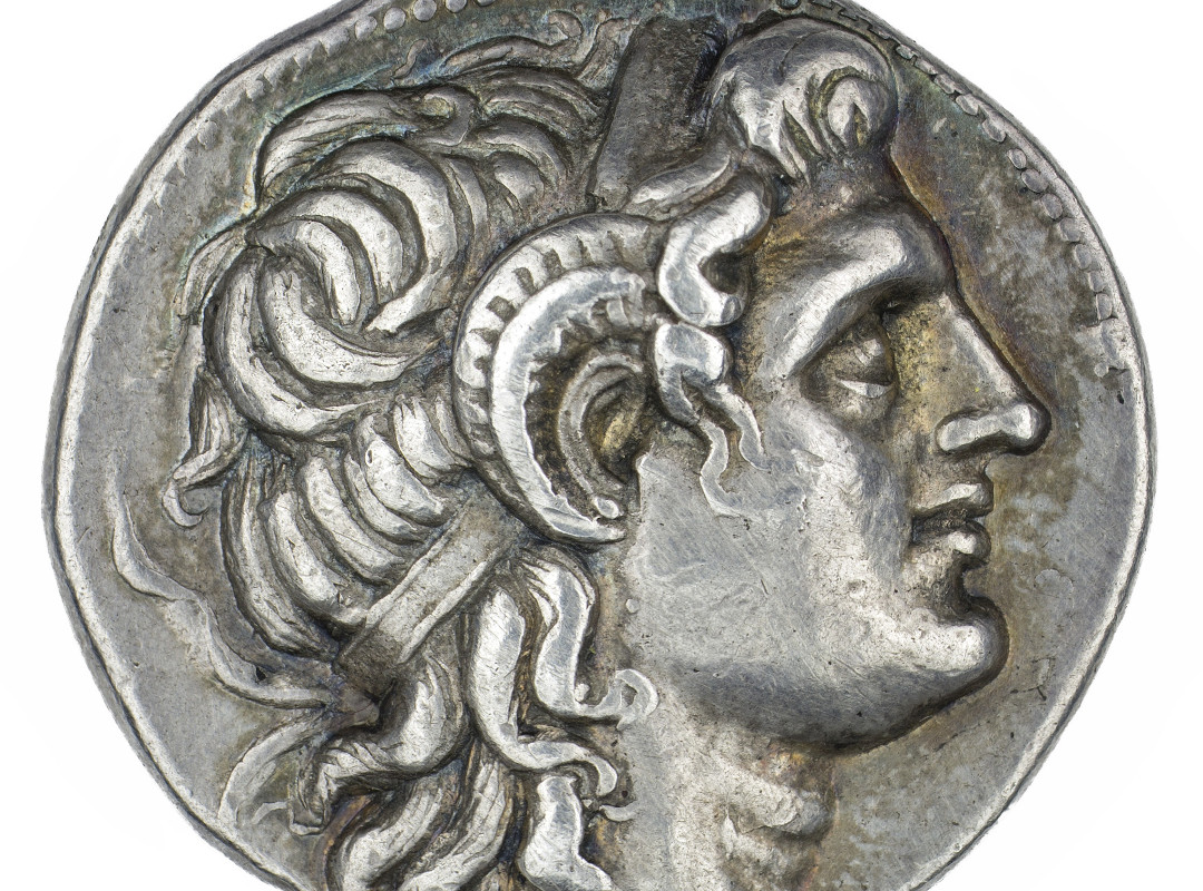 Minted under Lysimachus (Greek; Hellenistic), Tetradrachm of Deified Alexander III, the Great (detail), 360-281 BCE