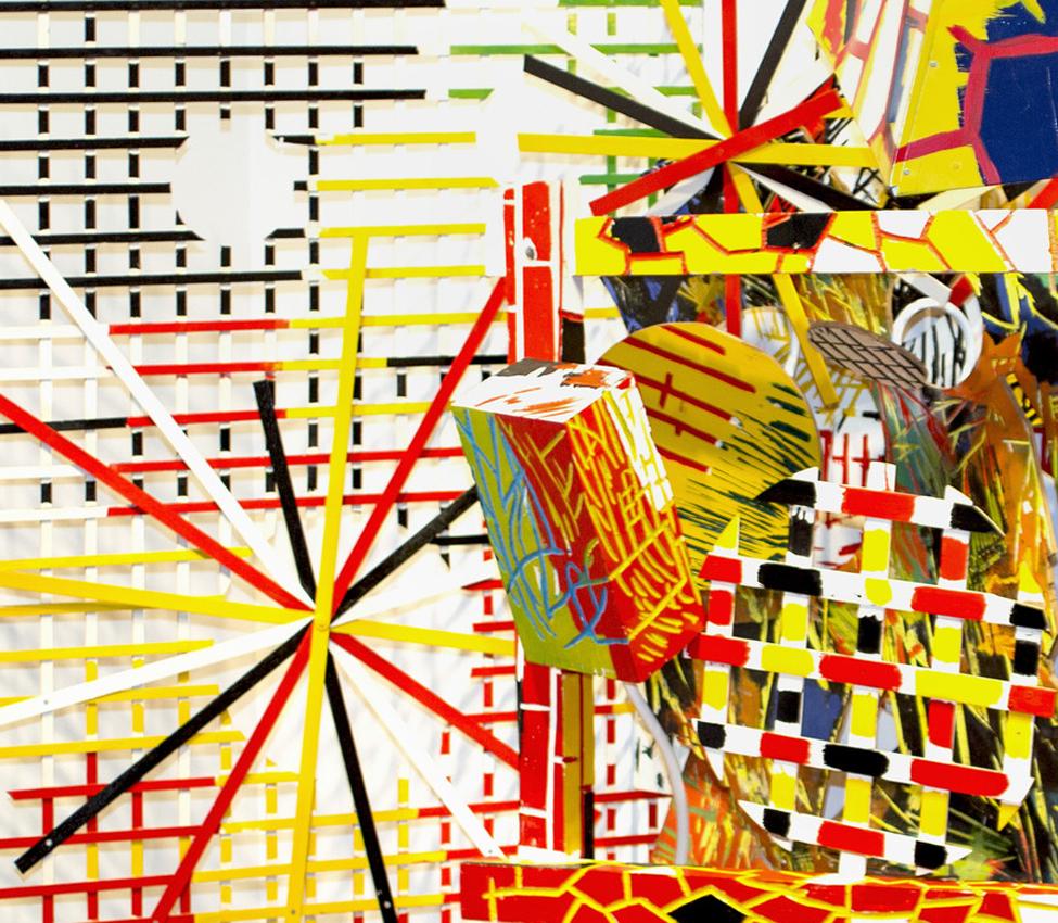 Judy Pfaff (American, b. 1946), Wallabout (detail), 1986, mixed media assemblage