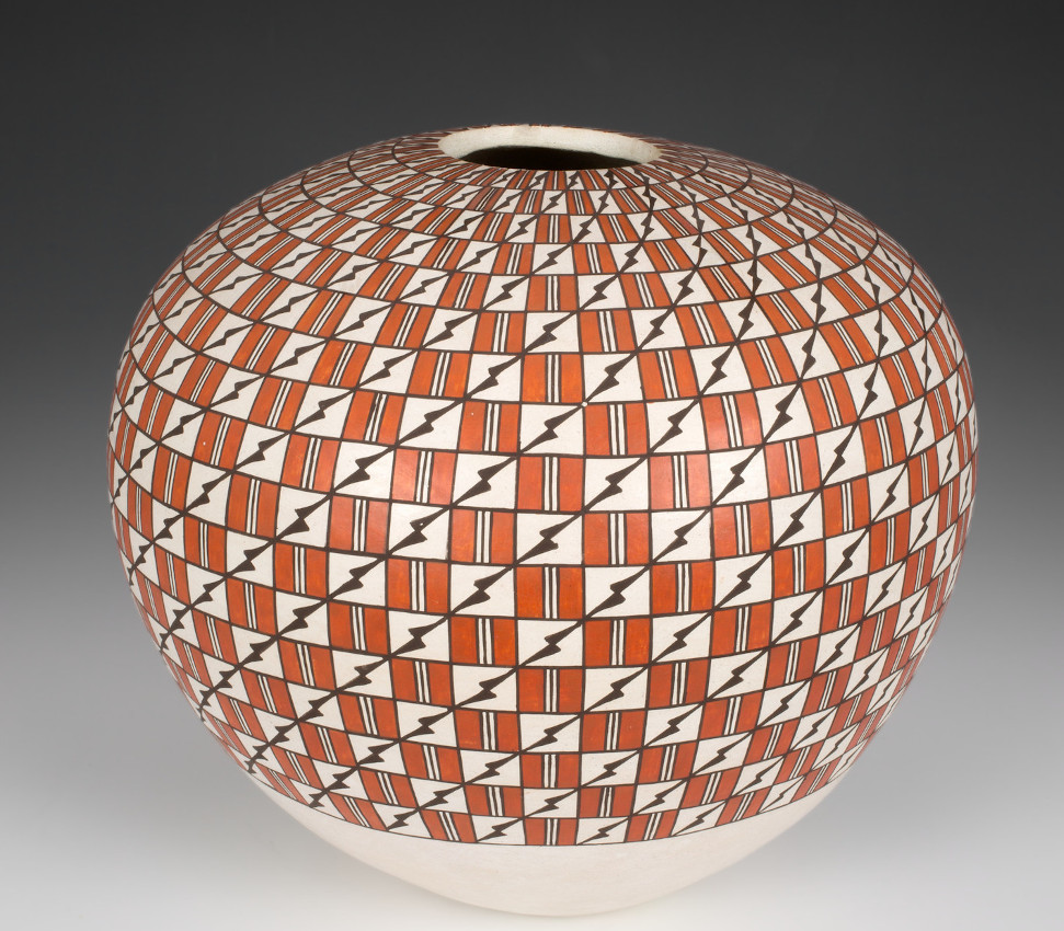 Grace Chino (Acoma Pueblo; American, 1929-1994), Seed pot, last quarter of the 20th century