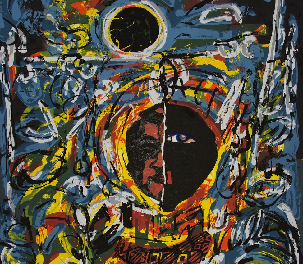 David Clyde Driskell (American, b. 1931), Night Vision (detail), 2007