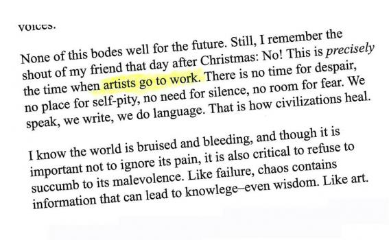 Artists Go To Work text