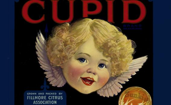 Maker Unknown (American), Crate label; Cupid, ca. 1925-45