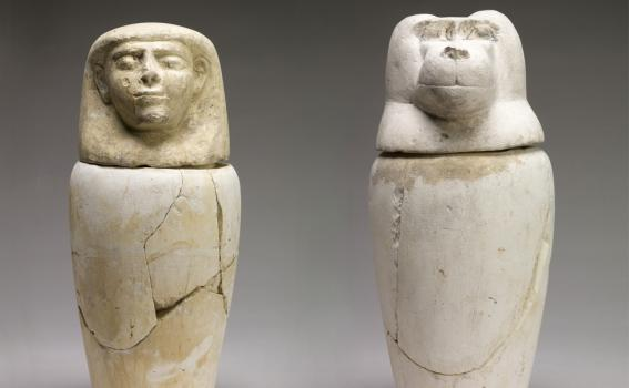 Maker Unknown (Egyptian), Canopic Jars, 1293-1070 BCE (New Kingdom, Dynasties 19-20)