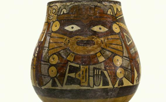 Maker Unknown (Peruvian), Nasca Vessel with anthropomorphic being