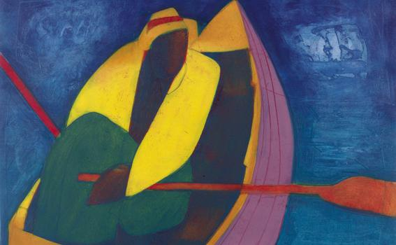 Joseph Holston (American, b. 1944), Man in Boat, 2005