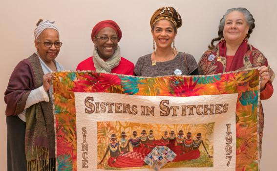 Sisters in Stitches: (from l. to r.) Lesyslie Rackard, Karen Beckett, Christle Rawlins-Jackson, Susi Ryan