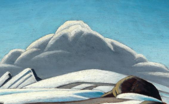 Lawren Harris (Canadian, 1875-1970), Mountain Sketch (detail), ca 1924-28