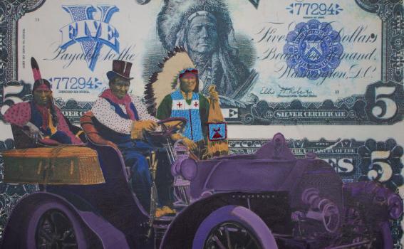 Stan Natchez (Shoshone/Paiute; American; born 1954), Geronimo's Cadillac (detail), 2019