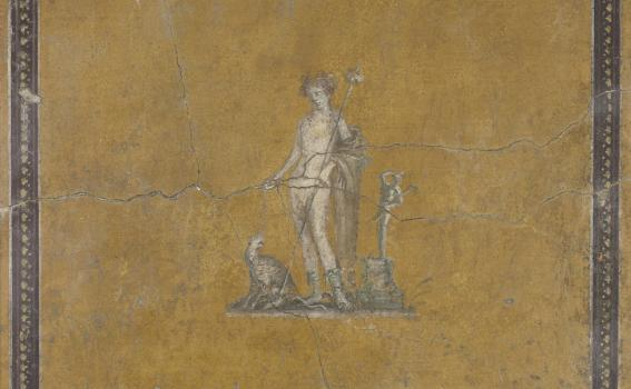 Maker unknown (Roman; Pompeiian) Fragment of a wall painting with Bacchus (detail)