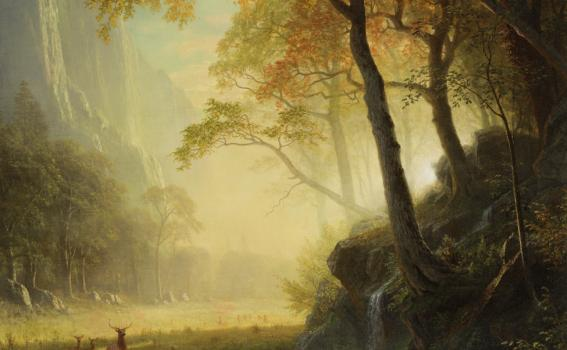 Albert Bierstadt (American, born Germany, 1830-1902), Hetch Hetchy Canyon (detail), 1875