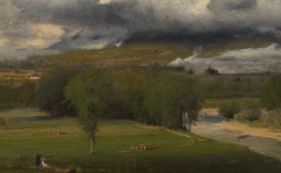 George Inness (American, 1825-1894), Saco Ford: Conway Meadows (detail), 1876