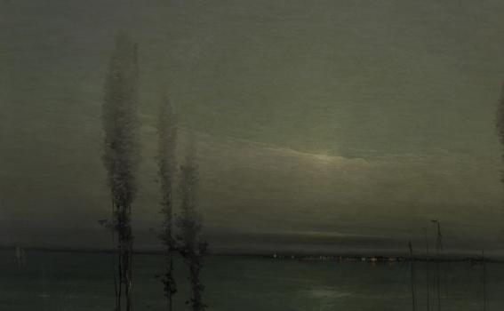 Leon Dabo (American, 1868-1960), Moonlight Waterscape, ca. 1900-1910